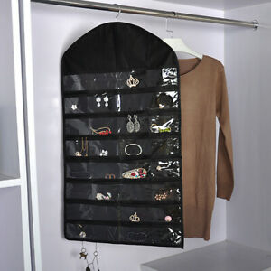 New Jewelry Closet Hanging Necklace Storage Organizer Holder Display Case Bag