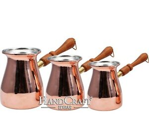 Engraved Copper Coffee Pot Set- Small-250ml Medium-350ml Large- 450ml(CPS-109)