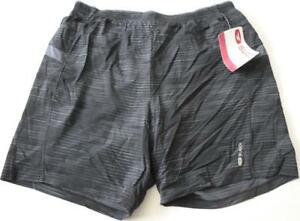 New SUGOI Men's Titan 7 inch 2 in 1 Large Black Shorts Liner Running Tra