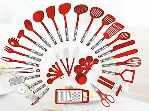 38 Piece Premium Kitchen Utensil Gift Set Cooking Tools Gadgets (Red)