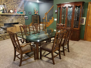 Beautiful 10 PC Formal Dining Room Set Suite Glass Table Wholesale deal!