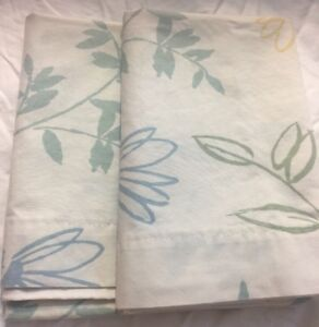 Grandmas Estate P003 King Pillow Cases Floral Lot Blue Green Yellow
