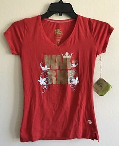 Womens Athletic Apparel XS Raw Threads Warrior Shirt RED XS NWT