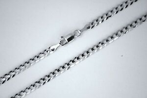 10K SOLID WHITE GOLD CUBAN LINK CHAIN NECKLACE MEN WOMEN 4mm16