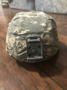 US ARMY MICH ACH ADVANCED COMBAT HELMET With ACU Cover Size Large Pre- Owned