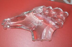 Horse Head Baccarat Crystal Cheval Bust 13in Figurine Sculpture Stunning R Rigot