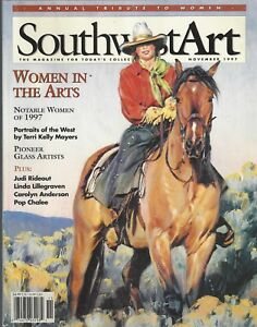 SOUTHWEST ART Nov 1997 Annual Tribute to Women Pioneer Glass Artists S10