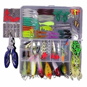 TopConcept Fishing Lures Kit Set For Bass Trout SalmonTopwater with Free Tackle