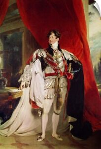 Wall Decal entitled The Prince Regent later George IV (1762-1830) in his Garter