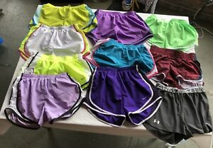COLORFUL S W12.5 NIKE DRI-FIT ATHLETIC SHORTS LOT OF 10 EUC CUTE WOMAN'S ❣️💗❣️