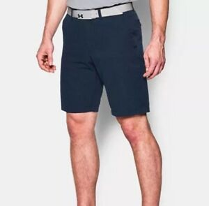 UNDER ARMOUR GOLF MATCH PLAY VENTED SHORTS MEN'S SZ W36 NAVY New
