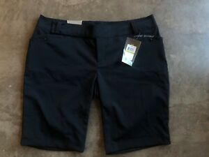 UNDER ARMOUR WOMENS LINKS GOLF SHORTS BLACK SIZE 14 1216041 001 NWT
