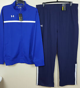 UNDER ARMOUR BASKETBALL WARM UP SUIT JACKET+PANTS ROYAL NAVY BLUE NEW (SIZE 3XL)
