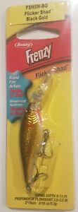 BERKLEY FLICKER SHAD LURE 5CM BLACK GOLD TACKLE