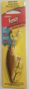 BERKLEY FLICKER SHAD LURE 7CM BLACK GOLD SUNSET TACKLE