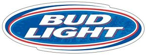 BUD LIGHT Decal CHOOSE SIZE Beer Bumper Window Bar Wall sticker Free Shipping