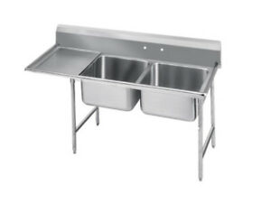 Advance Tabco Regaline 2-Compartment Stainless Steel Sink-20