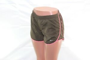 Nike Dri-Fit Women's Running Shorts Size  Small Brown & Pink