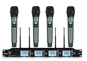 Wireless mic System UHF Karaoke Professional Home KTV Set Selectable Frequency
