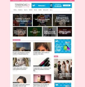 Website for womens news sell commerce. Tendencias24