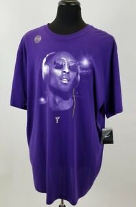 Mens Kobe  Bryant Lover Dri Fit Purple Super High Quality Tee Shirt Size is 3XL