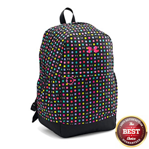 Under Armour Girls' Favorite Backpack Black (003)Harmony Red One Size