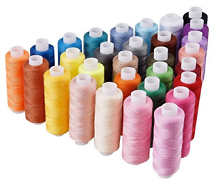 Candora Sewing Thread Assortment Coil 30 Color 250 Yards Each Polyester Thread S $9.99