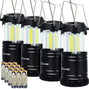 Set of 4 LED Camping Lantern COB Ultra Bright Collapsible Portable Camping Lamp