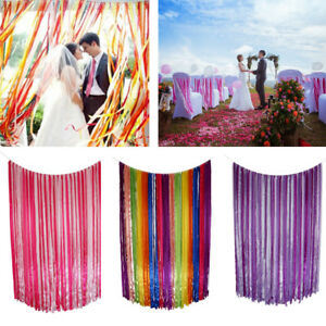 Wedding Fabric Ribbon Tassel Garland for Wedding Party Decor Photo Prop 1 x 2m