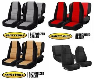 Smittybilt Complete front rear Neoprene Seat Covers 03-06 for Jeep Wrangler