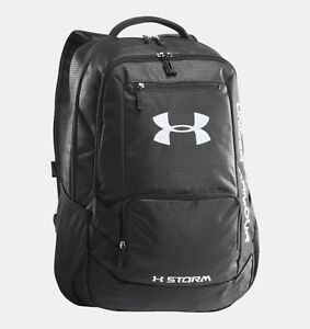 Under Armour Storm Team Hustle Backpack Water Resistant Big Logo Laptop Sleeve
