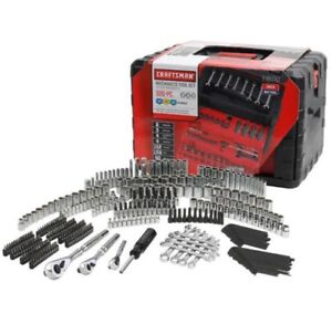 Craftsman 320 Piece Mechanics Tool Set With Case Wrenches SAE Metric 230 450 NEW