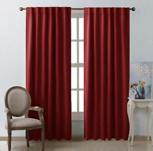 Blackout Curtain Panels Home Window Draperies Darkening Bedroom Cover Decoration