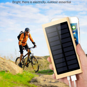 Solar Charger Power Bank 20000mAh Portable Dual USB Battery Charger for Phone