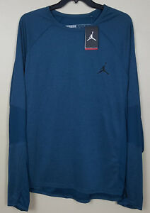 NIKE AIR JORDAN FLIGHT DRI-FIT TRAINING SHIRT SPACE BLUE 632075-485 (SIZE 4XL)