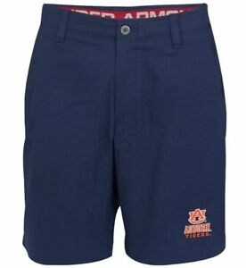 Under Armour Men's NCAA Auburn Tigers Blue Chino Golf Shorts All Sizes