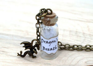 Dragons Breath Bottle Necklace with a Dragon Charm Maleficent Once Upon a Time $6.54