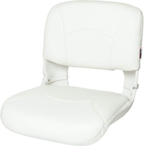 High Back White Boat Seat Lumbar Support Fitted Cushion Heavy Duty Fishing Chair