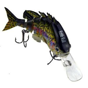 Fishing Bass Lures Multi Jointed Topwater Life Trout Swimbait Hard CrankBaits