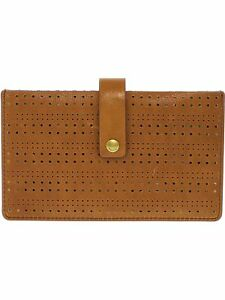 Fossil Women's Vale Perforated Tab Leather Wallet