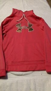 pink Under armour hoodie camo womens girls medium