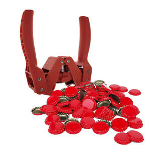 Red Baron Bottle Capper with Red Crown Oxygen Absorbing Beer Bottle Caps 144...