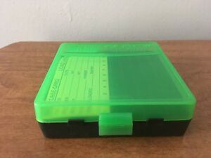 MTM Case Gard New MTM Plastic Ammo Box 100 Round 9mm  380 P100-9-16T BlkGreen
