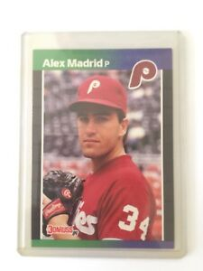 1989 Donruss Alex Madrid RARE & MINT CONDITION JUST OUT OF BOX WITH CARD SLEEVE
