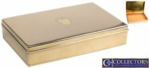 LARGE Tiffany & Co. Solid 14K Yellow Gold Cigar Box  Case Humidor 1207.28g