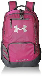 Under Armour Unisex Team Hustle Backpack Tropic PinkGraphite One Size