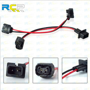 2X 5202 H16 2504 P13W Extension Wire Harness Sockets For Fog Lights/Headlights