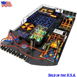 30500 sqft Turnkey Trampoline Park Playground Roller Coaster Ninja We Finance