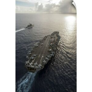 Wall Decal entitled USS George Washington and USS Mobile Bay underway in the