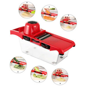 Manual Potato Slicer Vegetable Fruit Cutter Stainless Steel Mandoline Kitchen